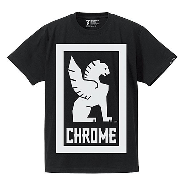 クローム メンズ Tシャツ ビッグ ロックアップ ティー CHROME BIG LOCKUP TEE BLACK JP044BK