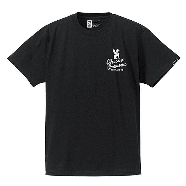 クローム メンズ Tシャツ セブンスターズ クオリティー ポートランド エディション ティー CHROME 7★QUALITY PDX ED. TEE BLACK JP048BK