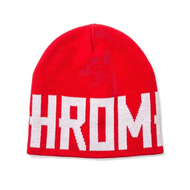 【SALE】 クローム ロゴ ビーニー CHROME LOGO BEANIE RED メンズ 帽子 ニットキャップ 帽子 JP028RD