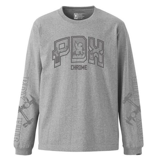 【デッドストック セール】【50%OFF SALE】 クローム PDX ハブ ロングスリーブ ティー CHROME PDX HUB L/S TEE MIX GREY メンズ Tシャツ ロンT JP072MG