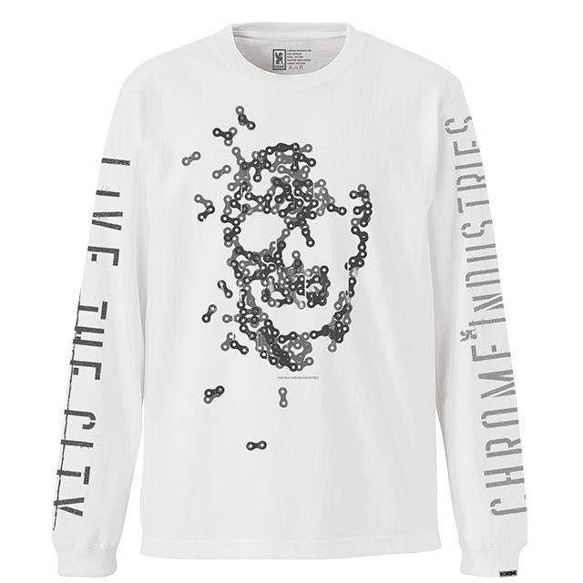 【50%OFF SALE】 クローム ジーダブルジー チェーン ティー CHROME GWG CHAIN L/S TEE WHITE メンズ Tシャツ JP117WT