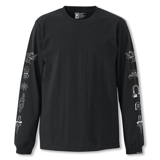 【50%OFF SALE】 クローム ストリート サイン ロングスリーブ ティー CHROME STREET SIGNS L/S TEE BLACK メンズ Tシャツ ロンT JP119BK
