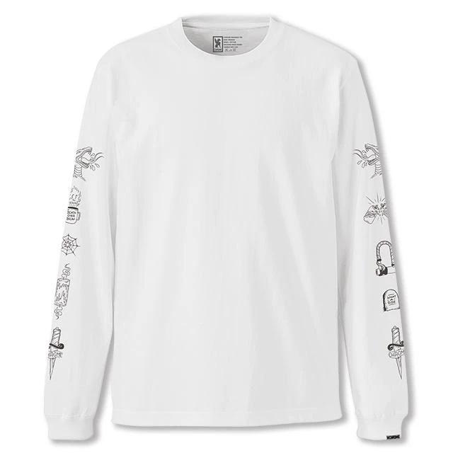 【50%OFF SALE】 クローム ストリート サイン ロングスリーブ ティー CHROME STREET SIGNS L/S TEE WHITE メンズ Tシャツ ロンT JP119WT