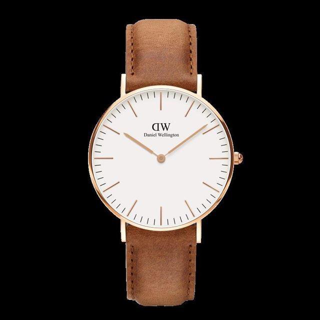 Daniel Wellington ダニエル ウェリントン メンズ レディース 腕時計 Classic Durham 36mm Rose gold ローズゴールド DW00100111 [革ストラップ/ライトブラウン]