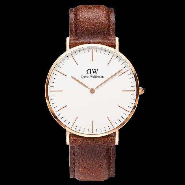 Daniel Wellington ダニエル ウェリントン メンズ 40mm 腕時計 Classic ST Andrews Rose gold ローズゴールド DW00100006 [革ストラップ/国内正規販売店/Authorized Dealer]