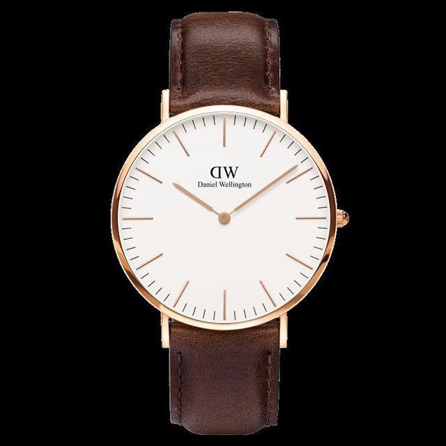 Daniel Wellington ダニエル ウェリントン メンズ 40mm 腕時計 Classic Bristol Rose gold ローズゴールド DW00100009 [革ストラップ/国内正規販売店/Authorized Dealer]