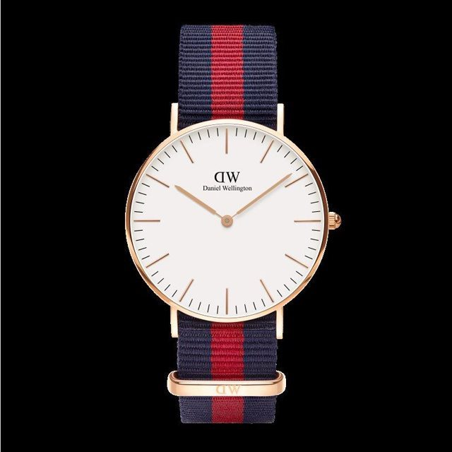 Daniel Wellington ダニエル ウェリントン メンズ レディース 36mm 腕時計 Classic Oxford Rose gold ローズゴールド DW00100029 [NATOストラップ/国内正規販売店/Authorized Dealer]