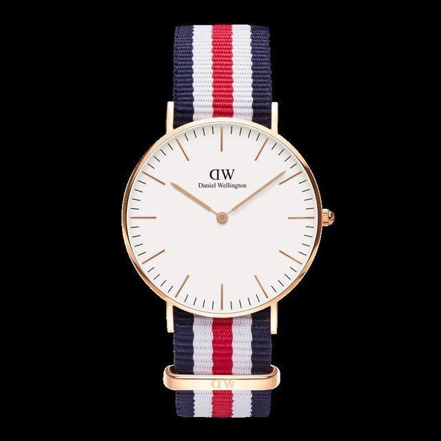 Daniel Wellington ダニエル ウェリントン メンズ レディース 36mm 腕時計 Classic Canterbury Rose gold ローズゴールド DW00100030 [NATOストラップ/国内正規販売店/Authorized Dealer]