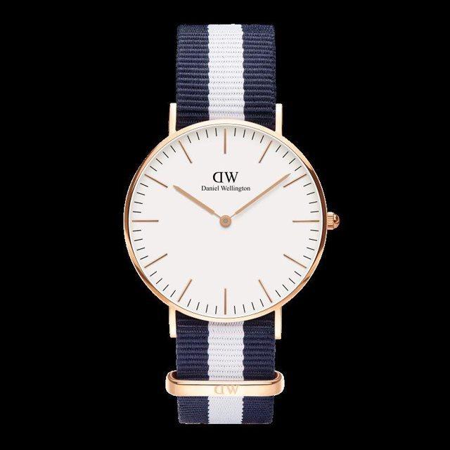 Daniel Wellington ダニエル ウェリントン メンズ レディース 36mm 腕時計 Classic Glasgow Rose gold ローズゴールド DW00100031 [NATOストラップ/国内正規販売店/Authorized Dealer]