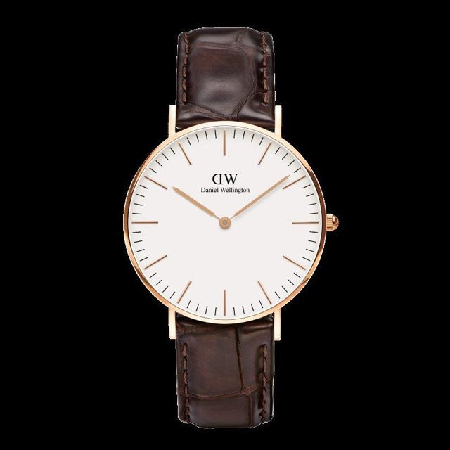 Daniel Wellington ダニエル ウェリントン メンズ レディース 36mm 腕時計 Classic Bristol Rose gold ローズゴールド DW00100039 [革ストラップ/国内正規販売店/Authorized Dealer]