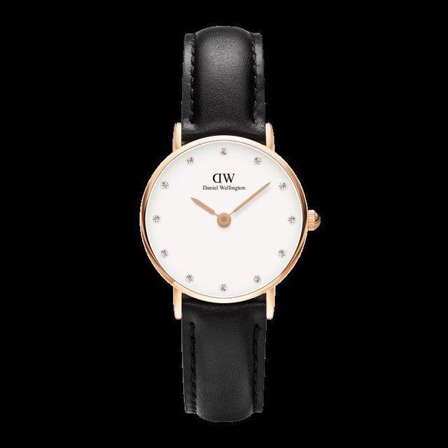 Daniel Wellington ダニエル ウェリントン レディース 腕時計 Classy Sheffield 26mm Rose gold ローズゴールド DW00100060 [革ストラップ/ブラック/国内正規販売店/Authorized Dealer]