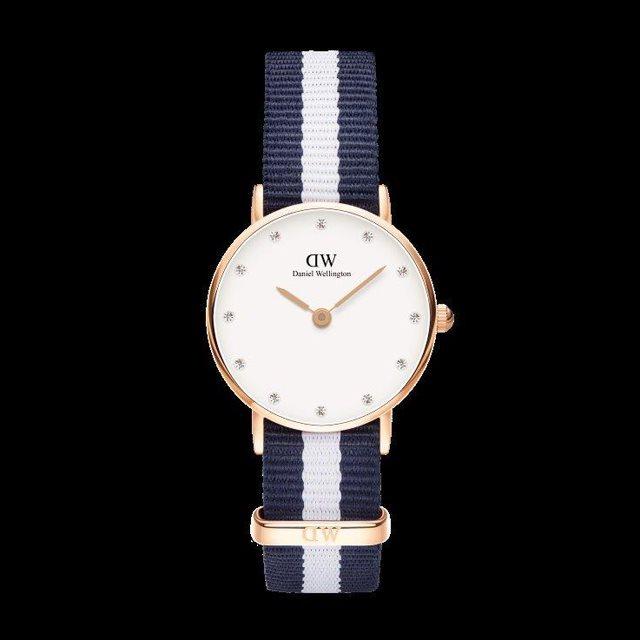 Daniel Wellington ダニエル ウェリントン レディース 26mm 腕時計 Classy Glasgow Rose gold ローズゴールド DW00100066 [NATOストラップ/国内正規販売店/Authorized Dealer]