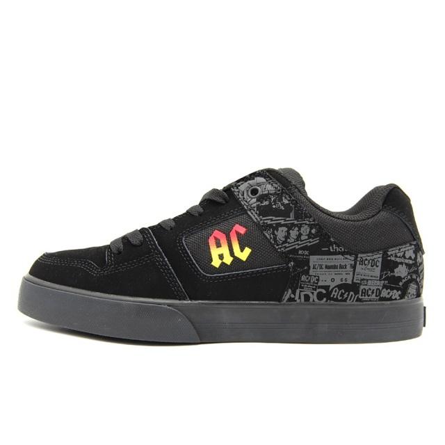 【SALE】 ディーシー シューズ DC SHOES PURE AC/DC BLACK/DKGREY メンズ スニーカー DM206104-BG1