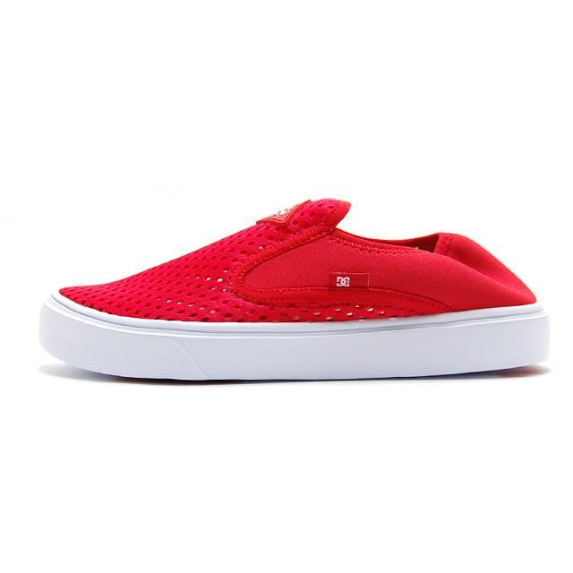 【30%OFF SALE】 ディーシー シューズ DC SHOES スニーカー メンズ レディース TRASE SLIP-ON LITE RED/WHITE  DM182601-RED