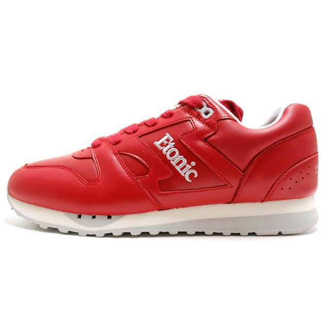 Etonic エトニック メンズ スニーカー TRANS AM LEATHER RED/SILVER EML14F-12-114 [国内正規販売店/Authorized Dealer]