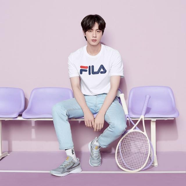 フィラ BTS Jin ジン RGB フレックス FILA RGB FLEX グレイ / ホワイト レディース スニーカー Born To Shine 防弾少年団 F2076-0063