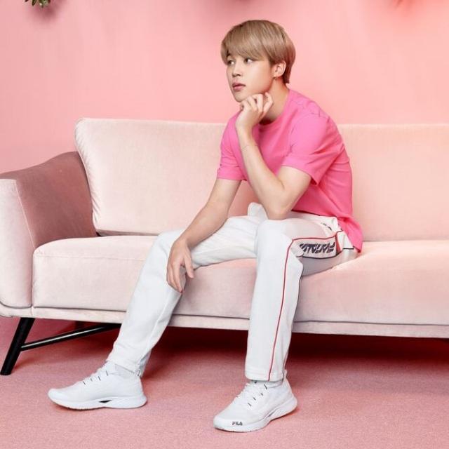 フィラ BTS Jimin ジミン RGB フレックス FILA RGB FLEX ホワイト レディース スニーカー Born To Shine 防弾少年団 F2076-0100