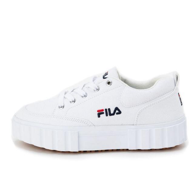 フィラ サンドブラスト ロウ ウィメンズ FILA SANDBLAST LOW WMNS WHITE/FILANAVY/FILARED レディース スニーカー F5116-0125