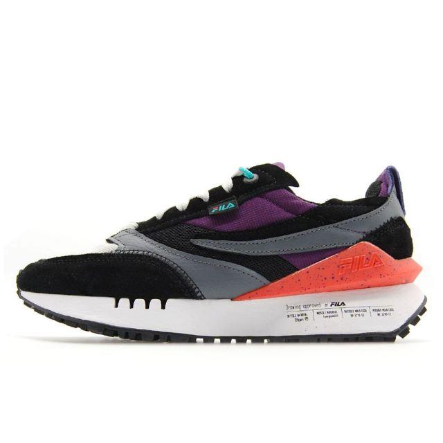 フィラ ルノ N-ジェネレーション FILA RENNO N-GENERATION Black / Imperial Purple / White メンズ スニーカー 1CM01569-019