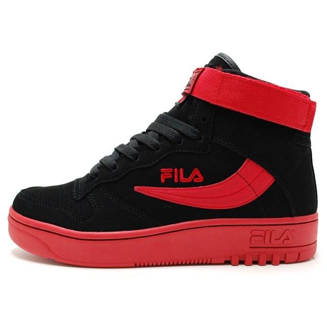 FILA フィラ メンズ レディース スニーカー FX-100 BLK/FRED FHE138-113 [スポーティー/ストリート/カジュアル/ミッドカット]