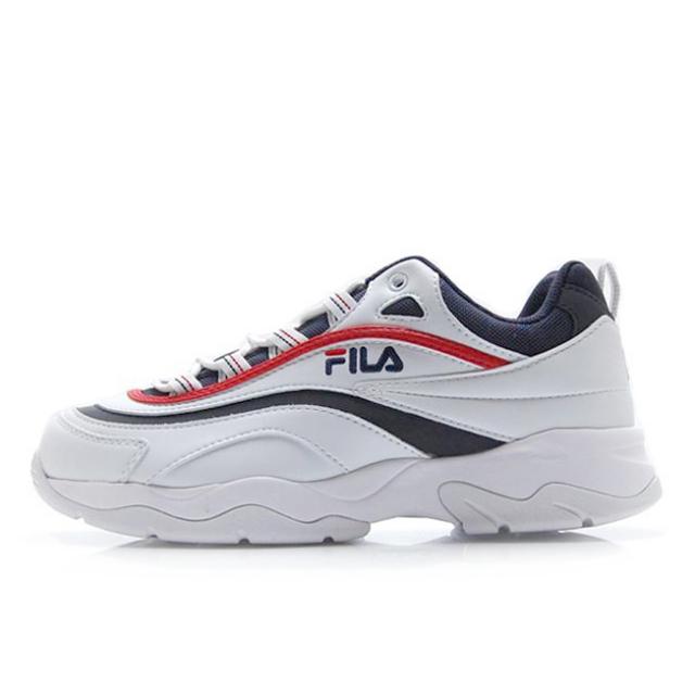フィラ フィラレイ FILA FILA RAY ホワイト/ネイビー/レッド メンズ レディース スニーカー 【ダッドシューズ 厚底】  F5054-3065