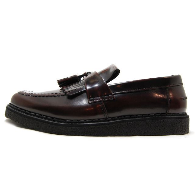 FRED PERRY フレッドペリー メンズ レディース スニーカー FRED PERRY X GEORGE COX TASSEL LOAFER LEATHER OXBLOOD オックスブラッド B8278-158 [ブラウン/レザー/ローファー/タッセル/ジョージコックス/小泉今日子/着用/SWITCH表紙/国内正規販売店/Authorized Dealer]