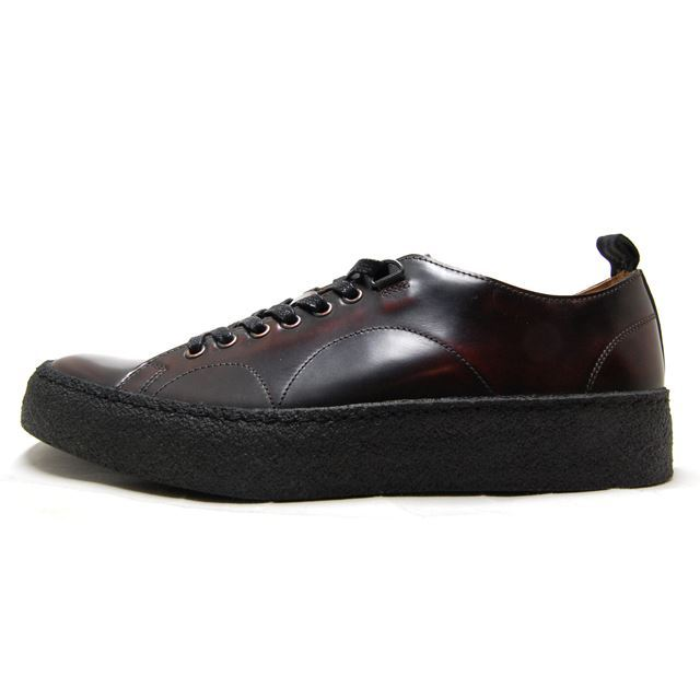 FRED PERRY フレッドペリー メンズ レディース スニーカー FRED PERRY X GEORGE COX TENNIS SHOE LEATHER OXBLOOD B8279-158 [ブラウン/レザー/革靴/コラボ/ジョージコックス/ユニセックス/国内正規販売店/Authorized Dealer]