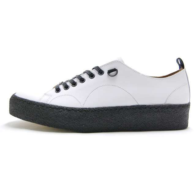 FRED PERRY フレッドペリー X ジョージコックス クリーパー レザー シューズ FRED PERRY X GEORGE COX CREEPER LEATHER WHOTE B8279-100
