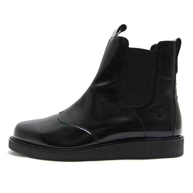 【30%OFF セール】 フレッドペリー FRED PERRY メンズ サイドゴア ブーツ NANAYON MASKEL SIDE GOA LEATHER BLACK ブラック 本革 キップガラスレザー F29620-07