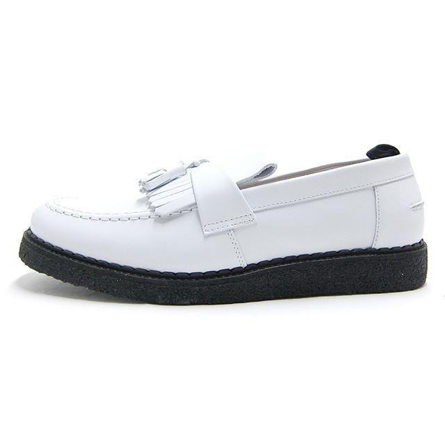 【30%OFF SALE】 フレッドペリー FREDPERRY スニーカー メンズ George Cox ジョージコックス Tassel Loafer Leather WHITE  ホワイト B3300-100