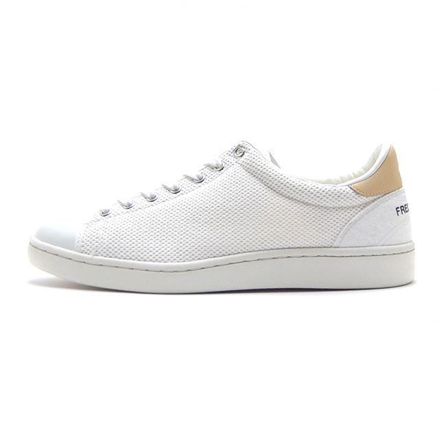 【30%OFF SALE】 フレッドペリー FREDPERRY スニーカー メンズ BREAUX WHITE BALL MESH WHITE 日本製 MADE IN JAPAN ホワイト F29626-10
