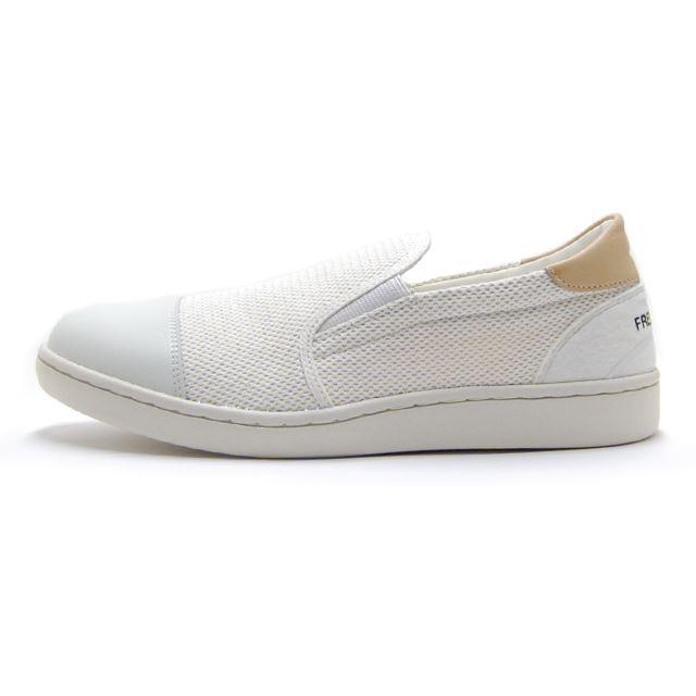 【30%OFF SALE】 フレッドペリー FREDPERRY スリッポン メンズ LILI WHITE BALL MESH WHITE スニーカー 日本製 MADE IN JAPAN ホワイト F29627-10