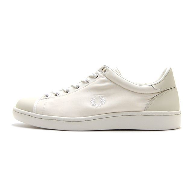 【30%OFF SALE】 フレッドペリー FREDPERRY スニーカー メンズ Breaux Military Canvas OFF WHITE 日本製 MADE IN JAPAN ホワイト F29628-09