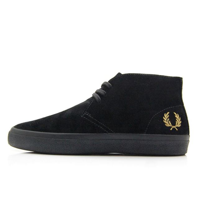 【30%OFF SALE】 フレッドペリー FREDPERRY PORT WOOD SUEDE BLACK メンズ スニーカー B7105-102