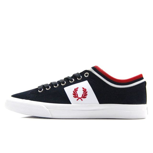 フレッドペリー FREDPERRY UNDERSPIN TIPPED CUFF TWILL NAVY / WINTER RED メンズ レディース スニーカー B7106-608