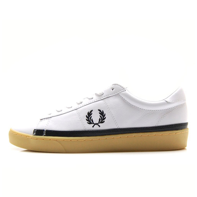 フレッドペリー FREDPERRY SPENCER LEATHER WHITE / BLACK メンズ スニーカー B7110-100