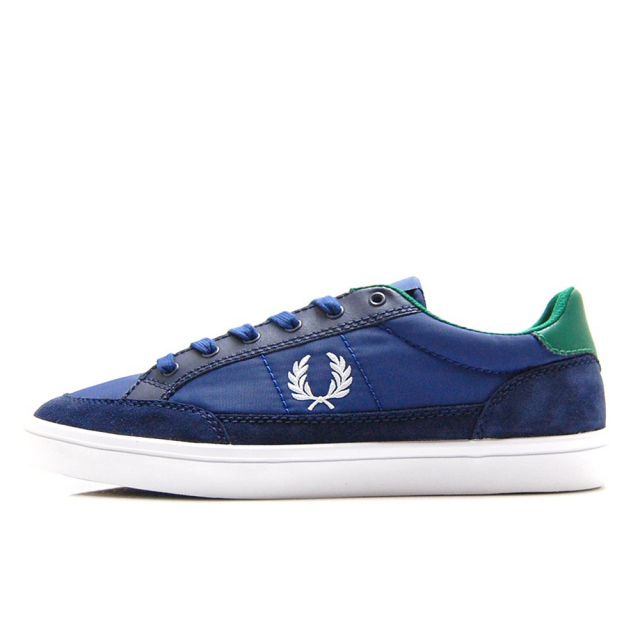 【30%OFF SALE】 フレッドペリー FREDPERRY DEUCE POLY / SUEDE / LEATHER MEDIEVAL BLUE / WHITE メンズ スニーカー B7134-126