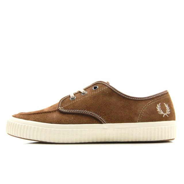 フレッドペリー FREDPERRY EALING LOW SUEDE HAVANA BROWN/NATURAL メンズ スニーカー B7175-988