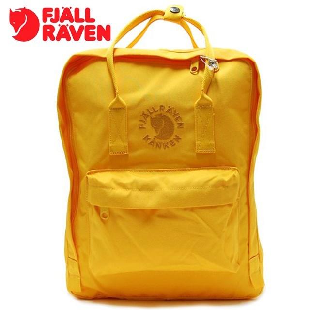 <20%OFF SALE> FJALLRAVEN フェールラーベン Re-Kanken リ カンケン Sunflower Yellow サンフラワー イエロー FR23548-142 [リュック/デイパック/2WAY/バックパック/国内正規販売店]【返品交換不可】