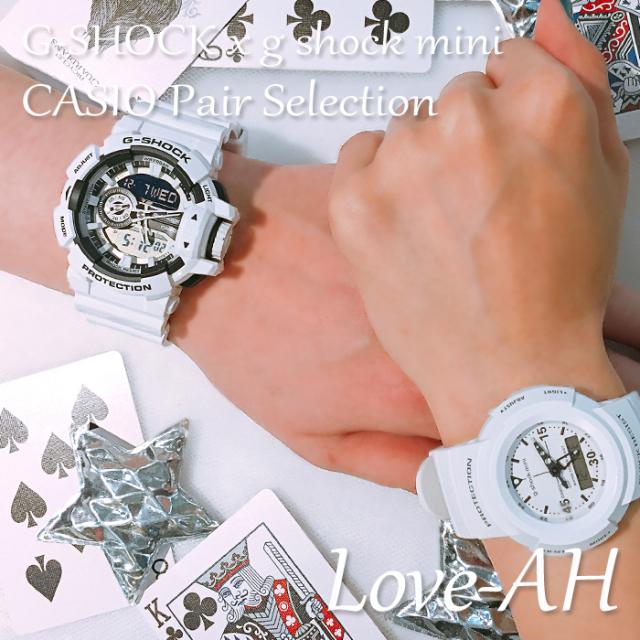 CASIO カシオ ペアウォッチ 腕時計 CASIO ペアセレクション LOVE-AH G-SHOCK g-shock mini ジーショック ジーショックミニ Gショック Gショックミニ GA-400-7AJF GMN-500-7BJR [ギフト/プレゼント/記念日/誕生日/クリスマス/カップル/国内正規販売店/Authorized Dealer]