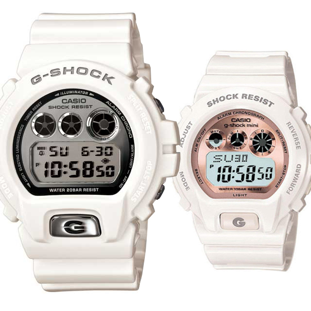 CASIO ジーショック 腕時計 ペアセレクション LOVE-bb G-SHOCK g-shock mini DW-6900MR-7JF GMN-691-7BJF
