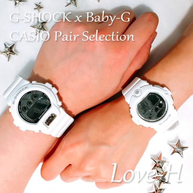CASIO カシオ ペアウォッチ 腕時計 CASIO ペアセレクション LOVE-H G-SHOCK Baby-G ジーショック ベビージー Gショック ベビーG ジーショック ベビージー Gショック ベビーG DW-6900MR-7JF BG-6900-7JF [ギフト/プレゼント/誕生日/クリスマス/カップル/国内正規販売店]