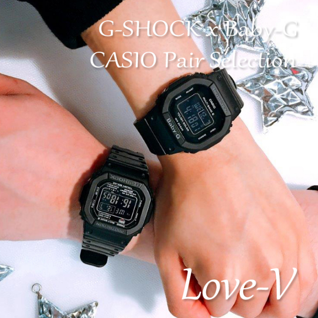 【ペアウォッチ】 Gショック ベビーG ペア G-SHOCK BABY-G  ジーショック ベビージー ペア CASIO カシオ 腕時計 ブラック 黒 GW-M5610-1BJF BGD-5000MD-1JF 【LOVE-V】【ペアBOX 送料無料 メーカー保証 あす楽  ラッピング無料】