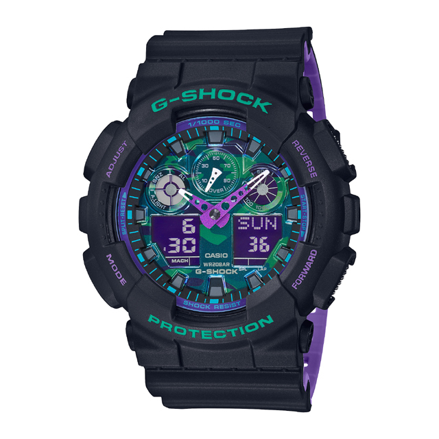 G-SHOCK ジーショック CASIO カシオ メンズ 腕時計 BLACK & 90s Color GA-100BL-1AJF [G-SHOCK/ジーショック/腕時計/防水]