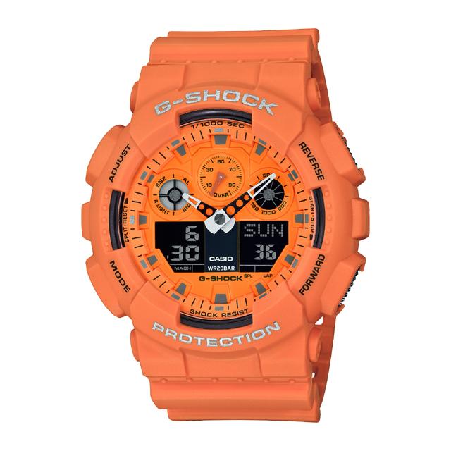 G-SHOCK ジーショック CASIO カシオ メンズ 腕時計 Hot Rock Sounds GA-100RS-4AJF [G-SHOCK/ジーショック/腕時計/防水/RockMusic]