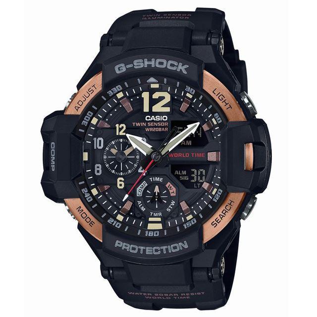 G-SHOCK ジーショック CASIO カシオ メンズ 腕時計 MASTER OF G マスターオブG GA-1100RG-1AJF [20気圧防水/ワールドタイム/方位計測/温度計測/アナログ/国内正規販売店/Authorized Dealer]