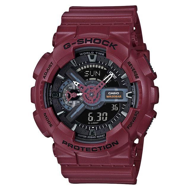 G-SHOCK ジーショック CASIO カシオ メンズ 腕時計 GA-110EW-4AJF [ボルドー/20気圧防水/ストップウォッチ/耐磁時計/アナログ/国内正規販売店/Authorized Dealer]