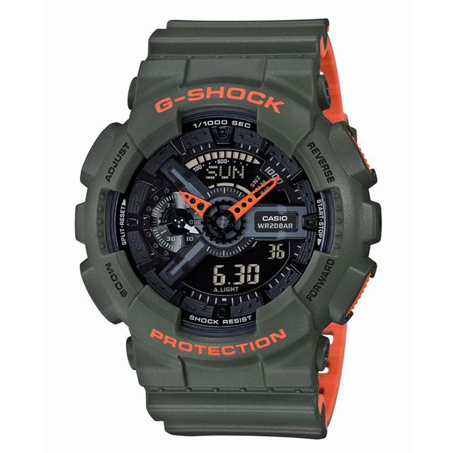 G-SHOCK ジーショック CASIO カシオ メンズ 腕時計 Layered Neon Color レイヤード・ネオンカラー GA-110LN-3AJF [20気圧防水/アナログ/ネオンカラー/マット]
