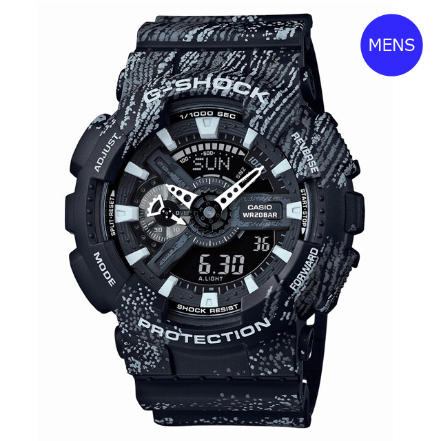 G-SHOCK ジーショック CASIO カシオ メンズ 腕時計 GA-110TX-1AJF [20気圧防水/ストップウォッチ/耐磁時計/アナログ/国内正規販売店/Authorized Dealer]