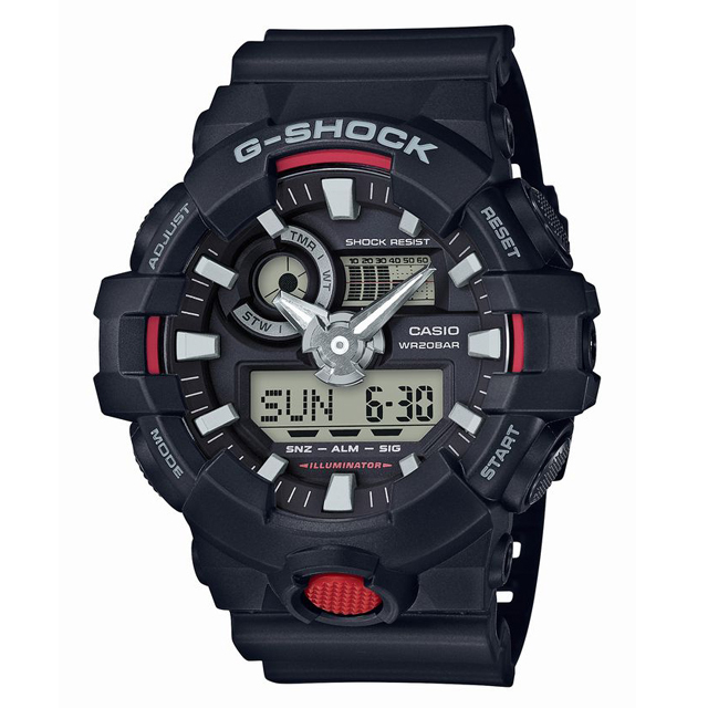 G-SHOCK ジーショック CASIO カシオ メンズ 腕時計 GA-700-1AJF [20気圧防水/ワールドタイム/国内正規販売店/Authorized Dealer]